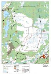 """Aizsargājamo ainavu apvidus """"Ādaži"""" ir Natura 2000 teritorija kopš 2004. gada. Teritorijas plāns."""