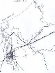 Plostu ceļš no Gaujas pa jaunizrakto kanālu gar Alderiem gāja cauri abiem Baltezeriem, turpināja ceļu pa otru jaunizveidoto 3 km garo Bukultu kanālu ļīdz Ķīšezeram. Plosti šķērsojot ezeru un Mīlgrāvja atteku un nonāca Daugavā.