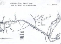 Gaujas - Daugavas  kanāla kopējais garums bija 22,3 km. Posms no Gaujas līdz Mazajam Baltezeram - 3,1 km, platums 10 metri. Zīmējumā - situācijas plāns.