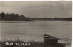 Gauja pie Remberģiem Ādažos, Gaujas  - Daugavas kanāla pats sākums. Foto 20.gs. 20.gadi.