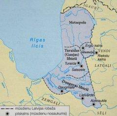 Līvu (lībiešu) apdzīvotās teritorijas 10.-12.gadsimtā. Izskaņa «aži» līvu valodā nozīmē apdzīvotu vietu: Ādaži, Pabaži u.c.  Gauja jeb Goiw  līvu valodā nozīmē ''bērzs''.