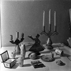 Kolhoza ''Ādaži'' suvenīru darbnīcā izgatavotie suvenīri. 1968.gads.