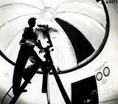 Ādažu vidusskolas observatorijas iekšskats. 1989.gada 23.janvāris.