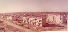Kolhoza ''Ādaži'' dzīvojamo ēku ciemats. 1973.gads.