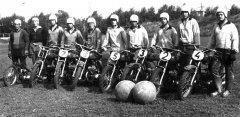 Ādažu motobola meistarkomanda. Foto ap 1977.gadu.