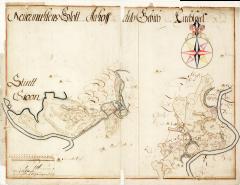 Jau 1221. gadā starp Juglas un Ķīšezeru tika uzbērts dambis ceļam. Vēl šodien to izmantojam, lai nokļūtu Rīgā. Neuermühlen, Aahof – Ādažu pils senie nosaukumi. Attēlā: karte 1691.gads.
