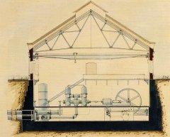 Baltezera Sūkņu stacija tolaik Eiropā bija otrā lielākā ūdens padeves stacija. Būvniecībai bija vajadzīgs tikai 1 gads un 5 mēneši. Tā sāka darboties - 1904. gada 26. oktobrī. Attēlā projekta skice.
